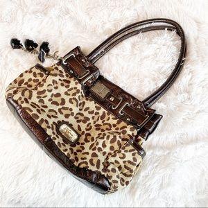 Kathy Van Zeeland Leopard Print Shoulder B…
